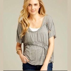 Willow and Clay Braid Jersey Top
